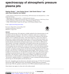 pdf review on vuv to mir absorption spectroscopy of atmospheric pressure plasma jets [ 850 x 1202 Pixel ]