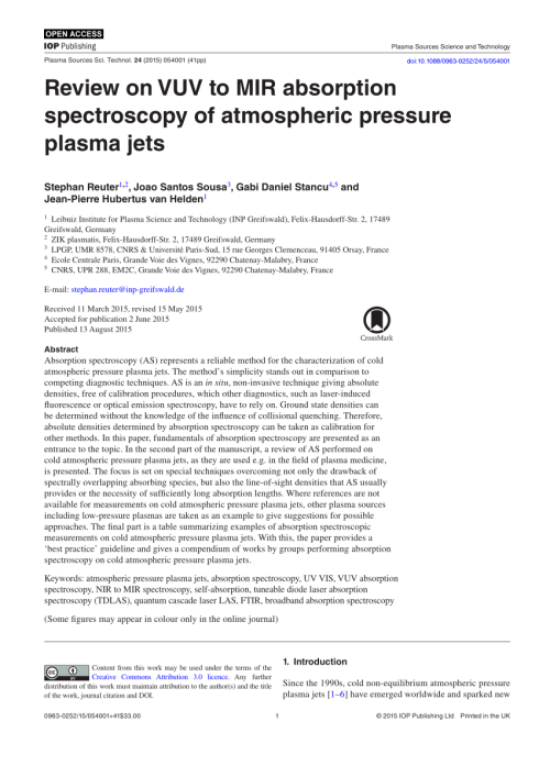 small resolution of  pdf review on vuv to mir absorption spectroscopy of atmospheric pressure plasma jets