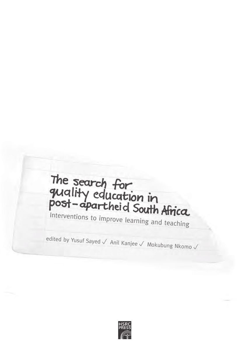 (PDF) The search for quality education in post-apartheid