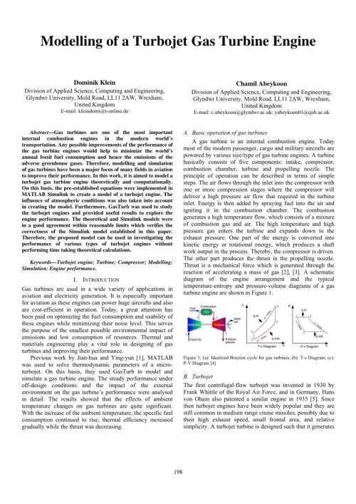 small resolution of  pdf modelling of a turbojet gas turbine engine
