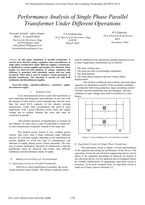 small resolution of  pdf simulation of single phase transformer with different supplies