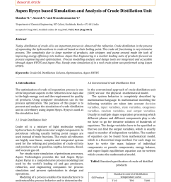 pdf aspen hysys based simulation and analysis of crude distillation unit [ 850 x 1202 Pixel ]