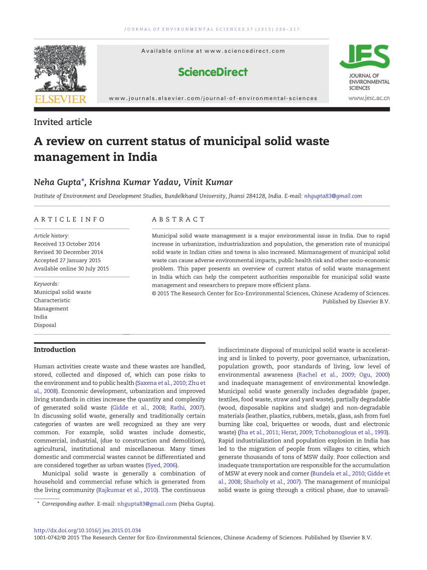medium resolution of  pdf solid and liquid waste management