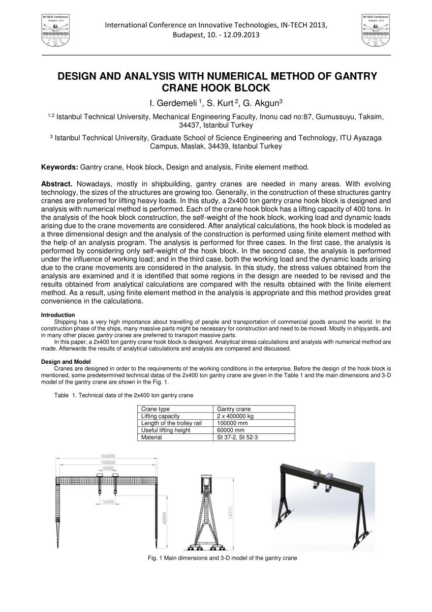 medium resolution of  pdf design and analysis with numerical method of gantry crane hook block