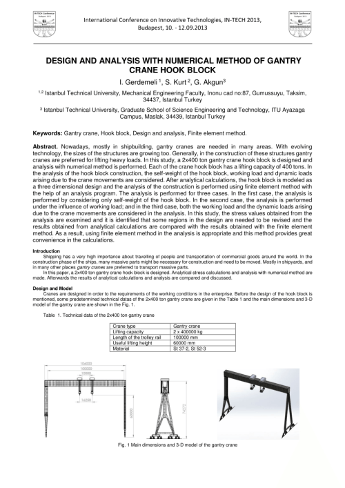 small resolution of  pdf design and analysis with numerical method of gantry crane hook block