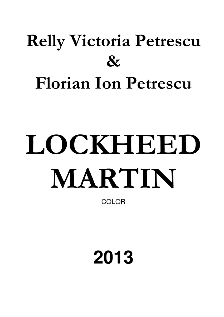 (PDF) Lockheed Martin Color
