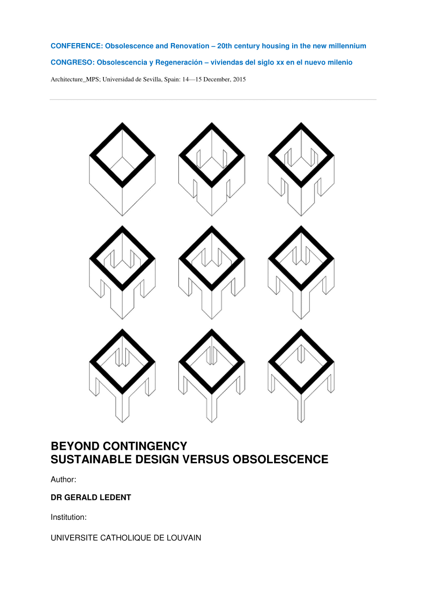(PDF) Beyond contingency. Sustainable design versus