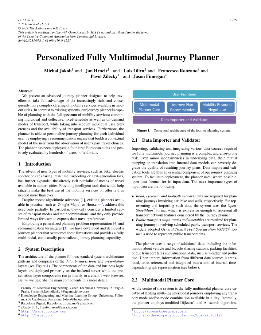 medium resolution of  pdf personalized fully multimodal journey planner