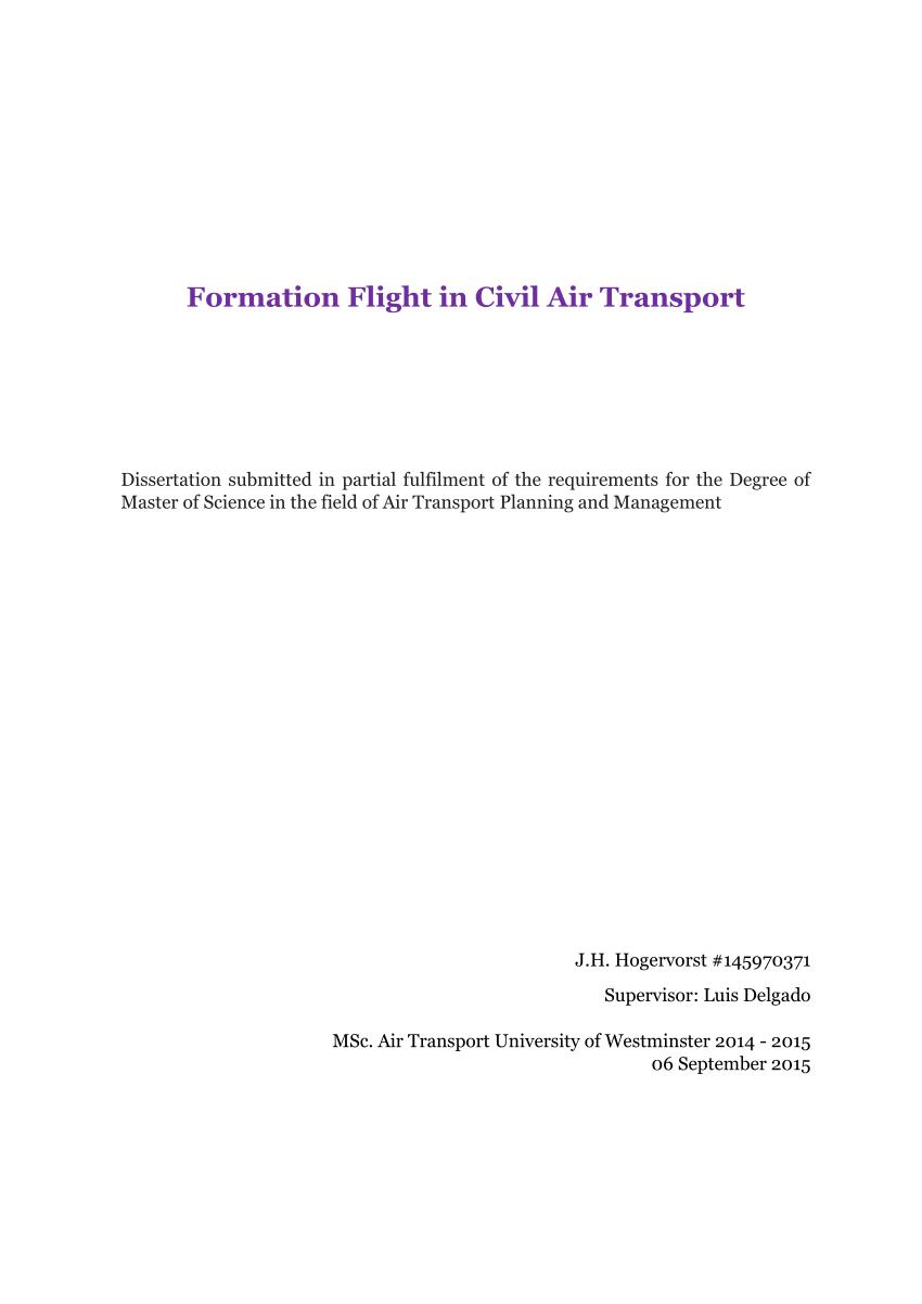 formation flight in civil air transport
