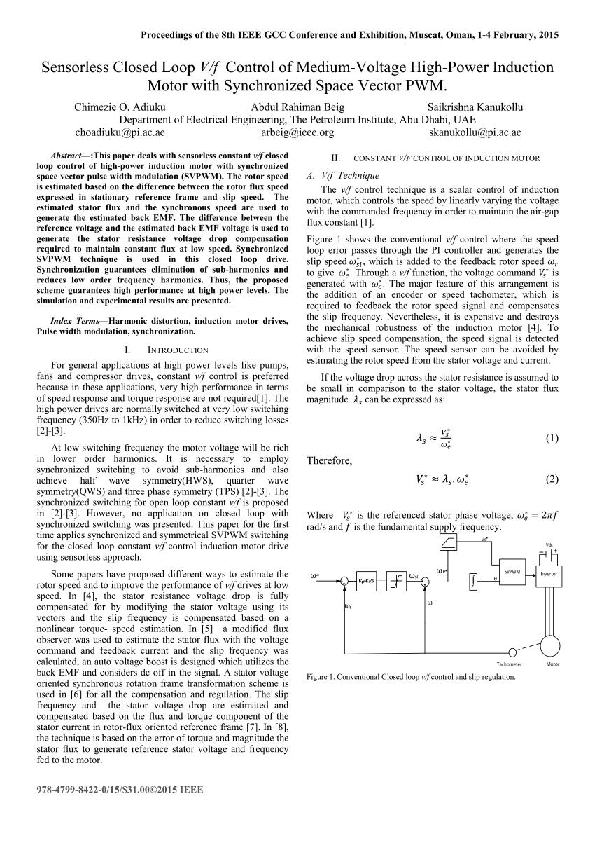 medium resolution of block diagram of the proposed sensorless constant v f control download scientific diagram