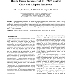 pdf how to choose parameters of x bar vssi control chart with adaptive parameters [ 850 x 1155 Pixel ]