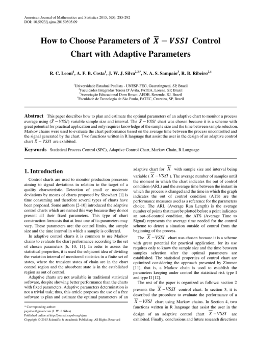 small resolution of  pdf how to choose parameters of x bar vssi control chart with adaptive parameters