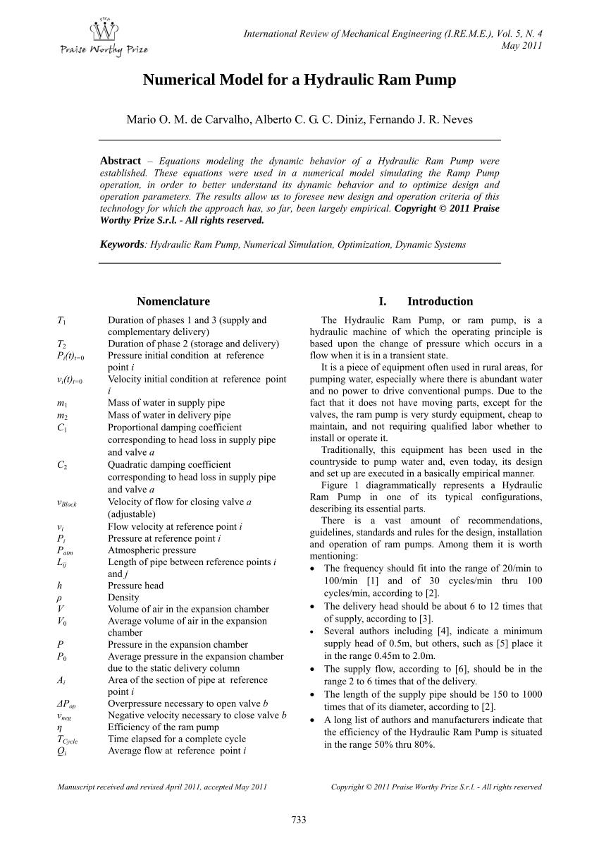 medium resolution of ram pump schematic