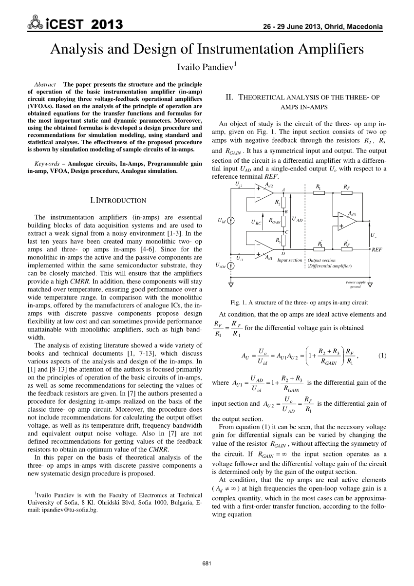 hight resolution of  pdf design of current mode instrumentation amplifier for portable biosignal acquisition system