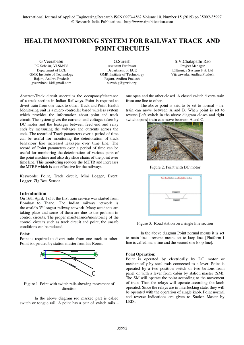 medium resolution of  pdf health monitoring system for railway track and point circuits