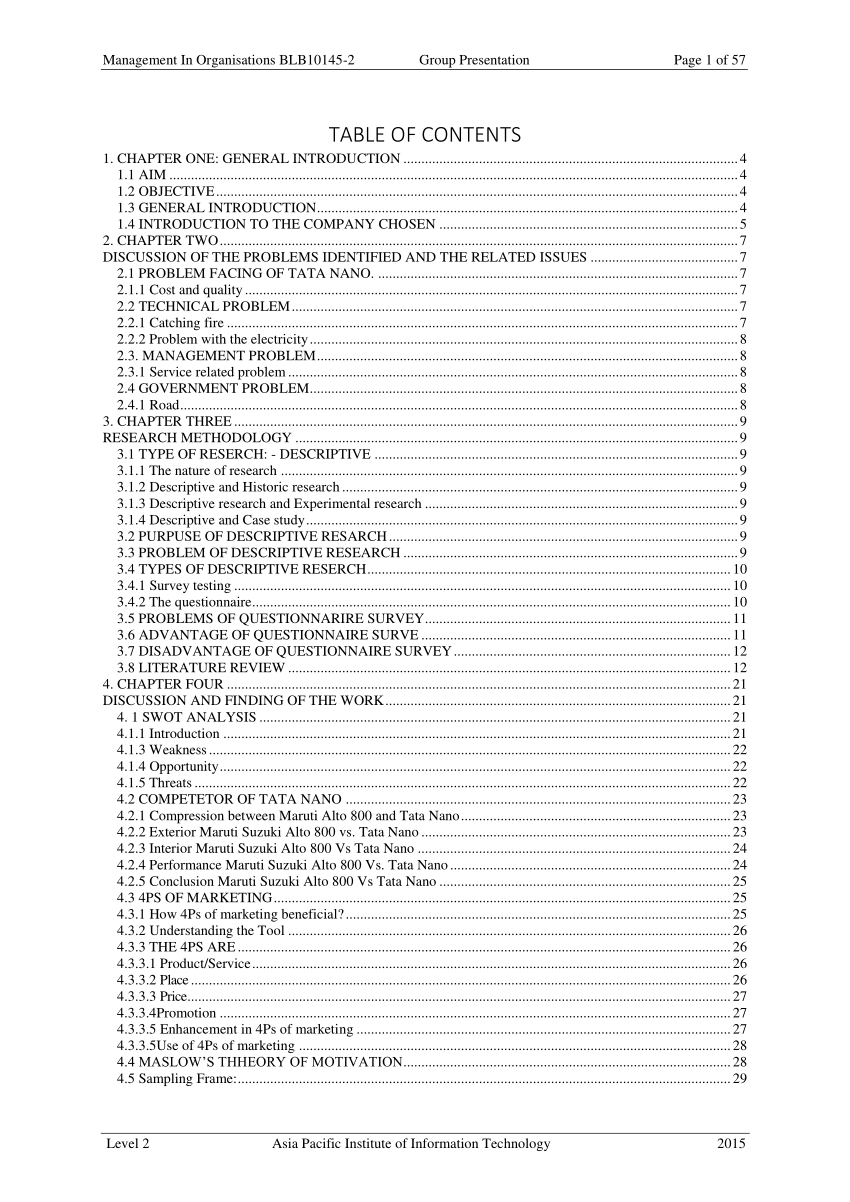 (PDF) Customer Satisfaction of Tata Nano