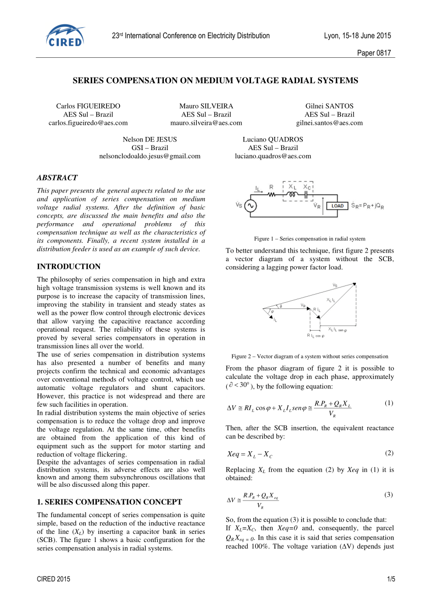 hight resolution of  pdf series compensation on medium voltage radial systems
