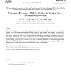 pdf performance evaluation of oil free chillers for building energy performance improvement [ 850 x 1160 Pixel ]