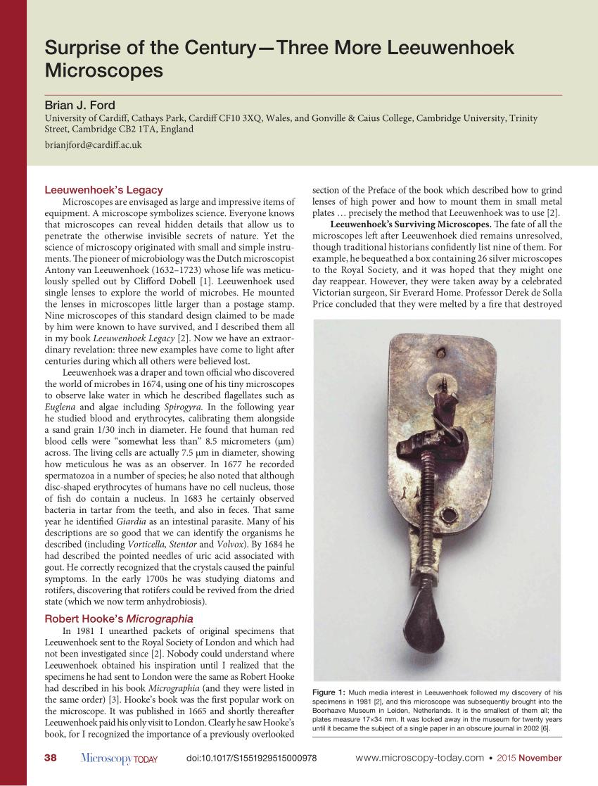 medium resolution of  pdf genuine or copy novel methods of authenticating new leeuwenhoek microscopes