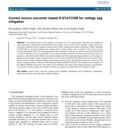 pdf current source converter based d statcom for voltage sag mitigation [ 850 x 1133 Pixel ]