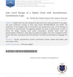 pdf gate level design of a digital clock with asynchronous synchronous logic [ 850 x 1132 Pixel ]