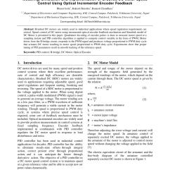 pdf modeling simulation and implementation of brushed dc motor speed control using optical incremental encoder feedback [ 850 x 1100 Pixel ]