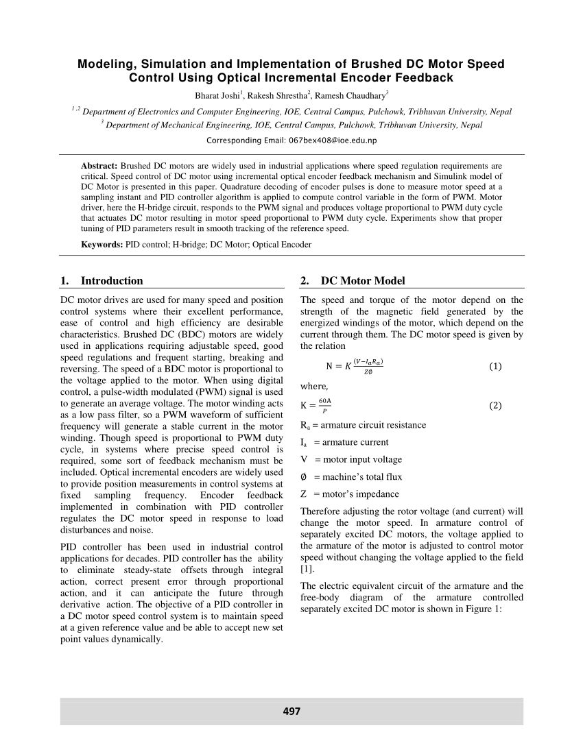 medium resolution of  pdf modeling simulation and implementation of brushed dc motor speed control using optical incremental encoder feedback