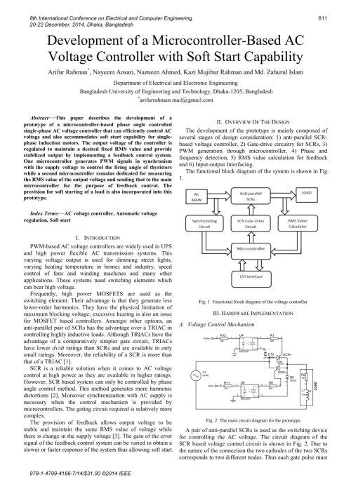 small resolution of  pdf development of a microcontroller based ac voltage controller with soft start capability