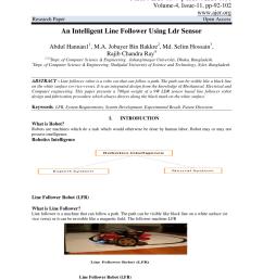 pdf an intelligent line follower using ldr sensor [ 850 x 1202 Pixel ]