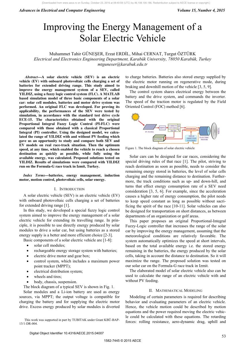 medium resolution of the block diagram of solar electric vehicle download scientific diagram