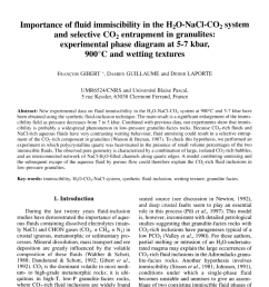 phase equilibria in ternary systems formed by h2o and co2 with cacl2 or nacl at high t and p request pdf [ 850 x 1262 Pixel ]