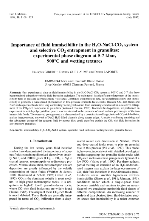small resolution of phase equilibria in ternary systems formed by h2o and co2 with cacl2 or nacl at high t and p request pdf