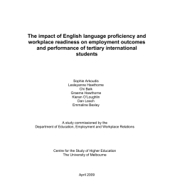 pdf the impact of english language proficiency and workplace readiness on the employment outcomes of tertiary international students [ 850 x 1203 Pixel ]