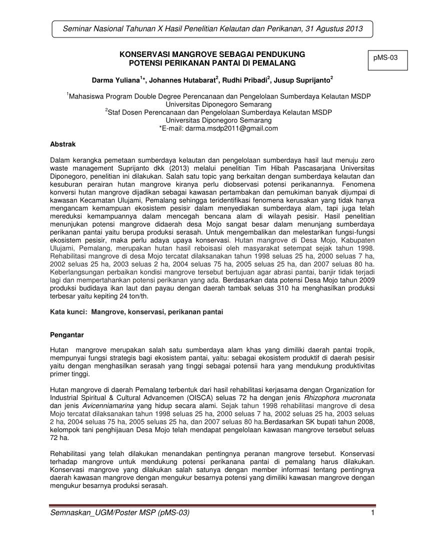 medium resolution of  pdf konservasi mangrove sebagai pendukung potensi perikanan pantai di pemalang