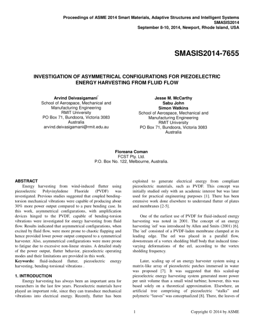 small resolution of  pdf investigation of asymmetrical configurations for piezoelectric energy harvesting from fluid flow
