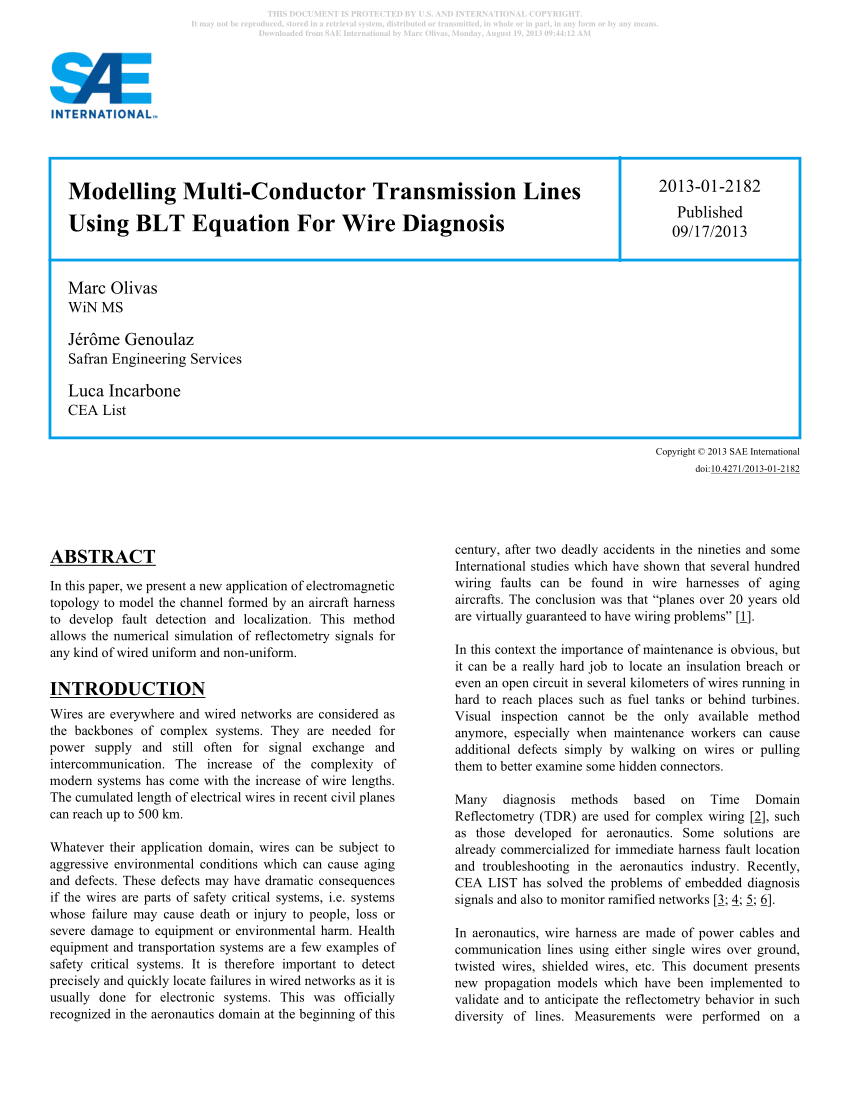 hight resolution of pdf modelling multi conductor transmission lines using blt equation wire harness protector google patente on definition of wiring harness
