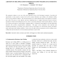 pdf a review on the application of resistance spot welding of automotive sheets [ 850 x 1153 Pixel ]