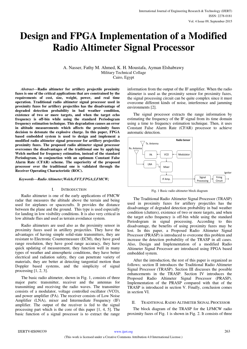 hight resolution of  pdf design and fpga implementation of a modified radio altimeter signal processor