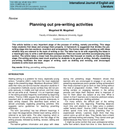 PDF) Planning out pre-writing activities [ 1100 x 850 Pixel ]