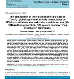for mobile communication gsm and wideband code division multiple access w cdma third generation 3g system based on their modulation techniques [ 850 x 1100 Pixel ]