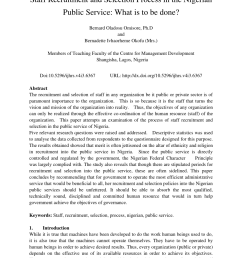 pdf staff recruitment and selection process in the nigerian public service what is [ 850 x 1202 Pixel ]