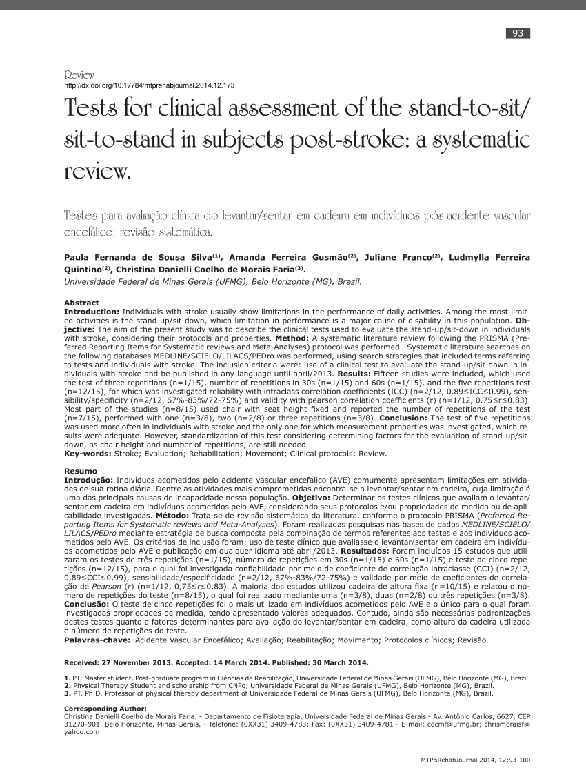 minimal chair height stand test egg on pdf tests for clinical assessment of the to sit in subjects post stroke a systematic review