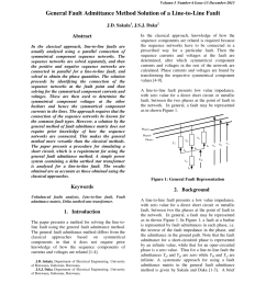 pdf general fault admittance method solution of a line to ground fault [ 850 x 1100 Pixel ]