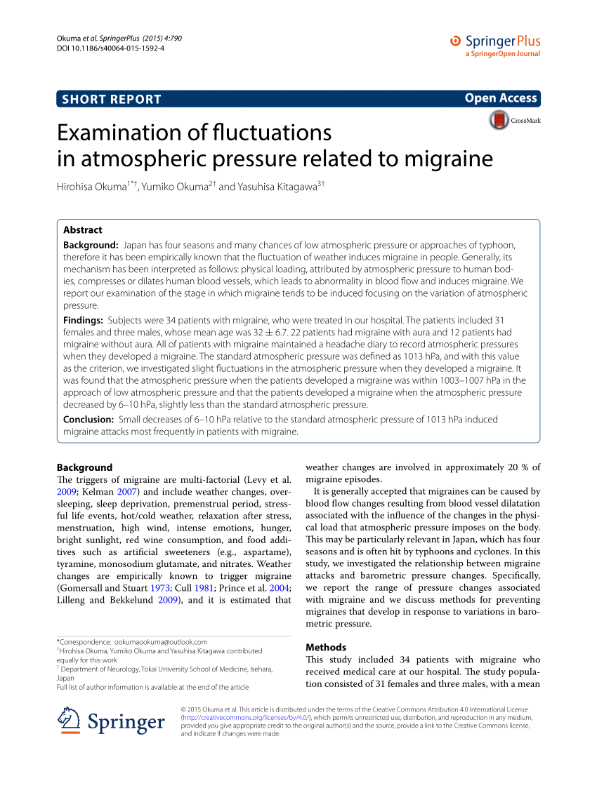 (PDF) Examination of fluctuations in atmospheric pressure ...