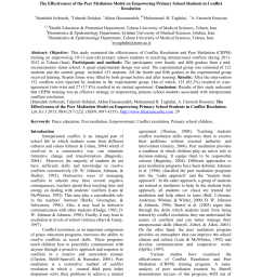PDF) The effectiveness of the peer mediation model on empowering primary  school students in conflict resolution [ 1100 x 850 Pixel ]