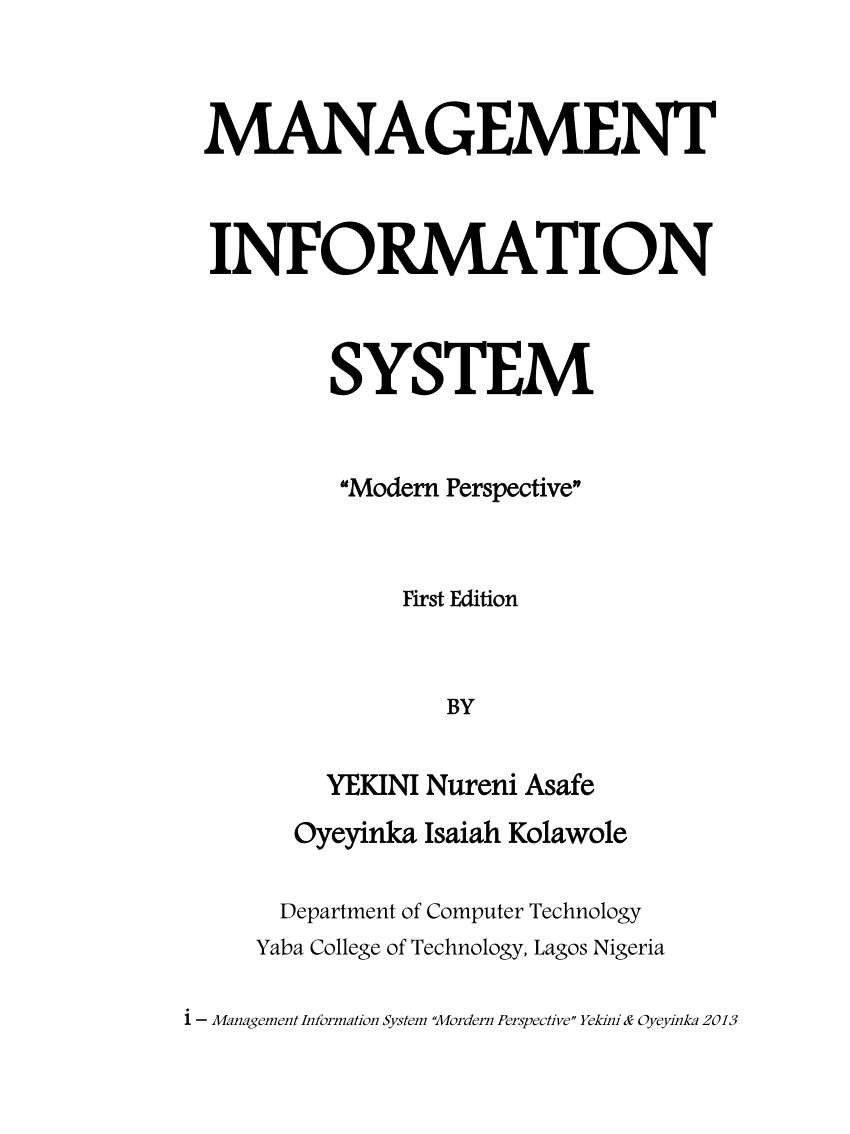 hight resolution of  pdf management information system modern perspective