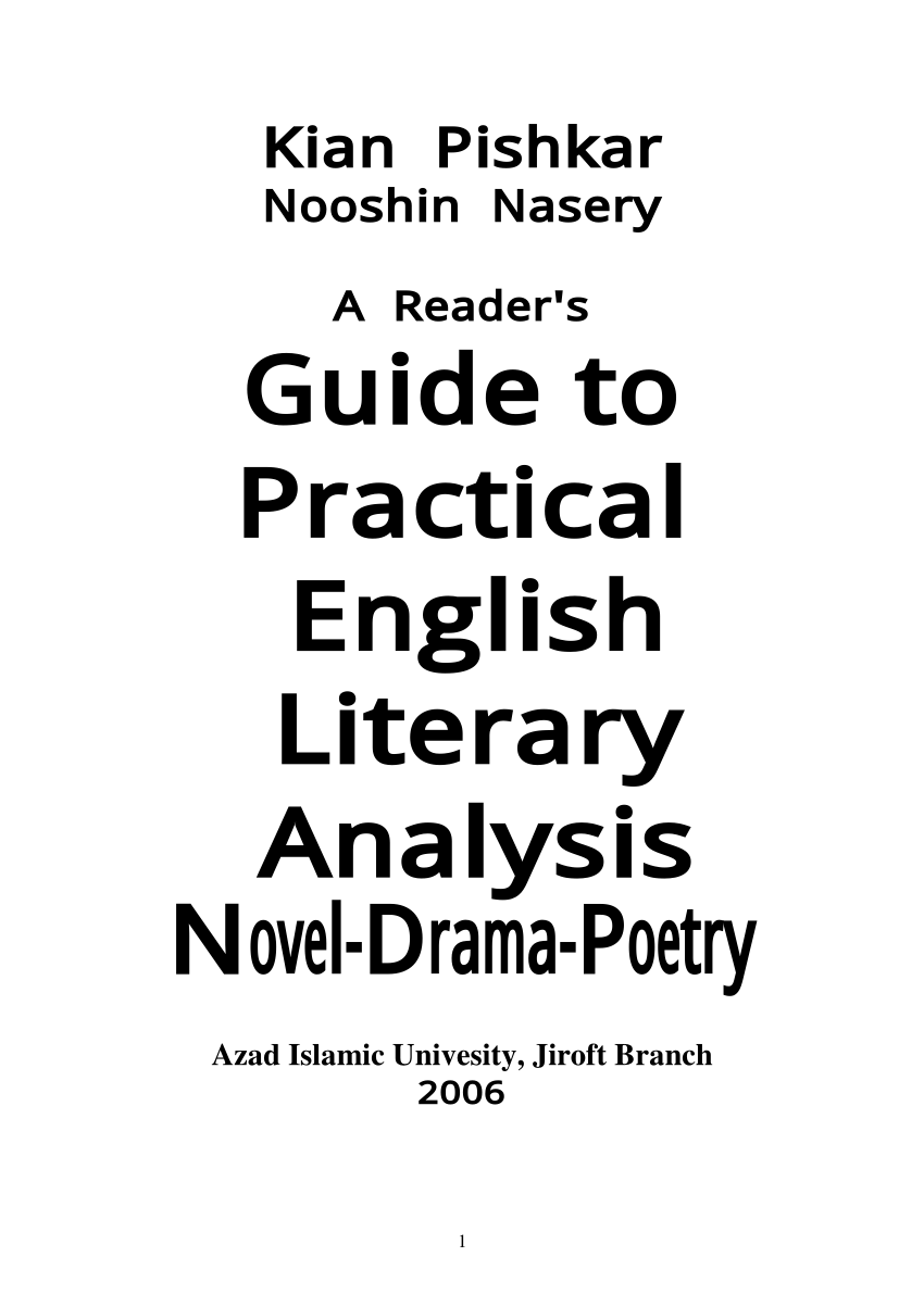 (PDF) Guide to English literature
