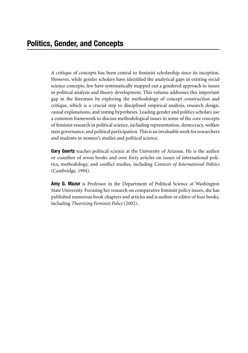 PDF Women's Movements Feminism And Feminist Movements
