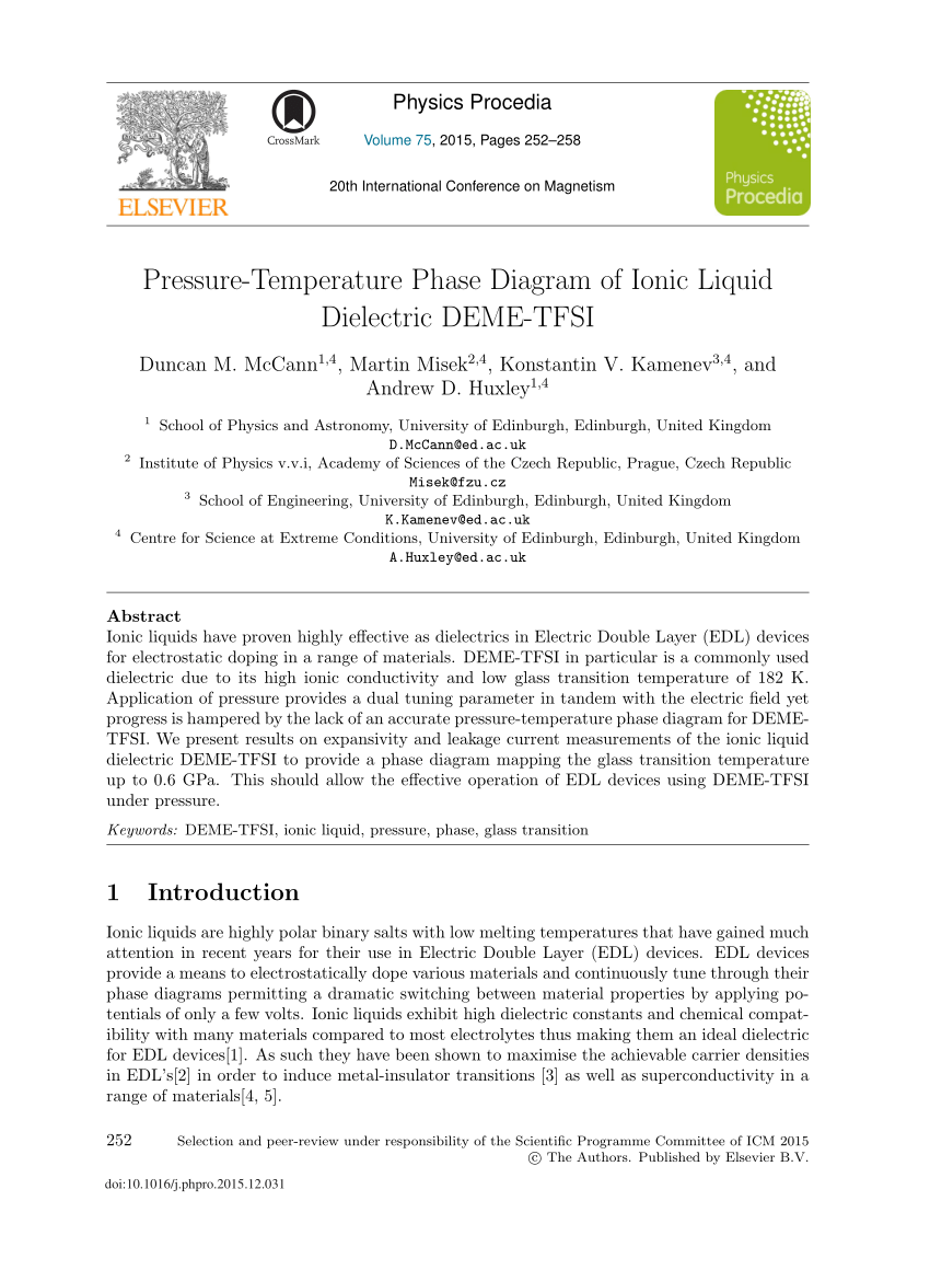 hight resolution of  pdf pressure temperature phase diagram of ionic liquid dielectric deme tfsi