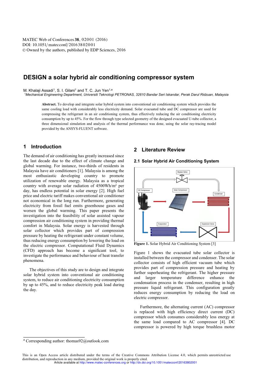 hight resolution of  pdf design a solar hybrid air conditioning compressor system